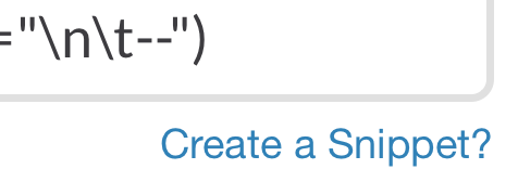 Slack sends Code Snippets to Hotel California